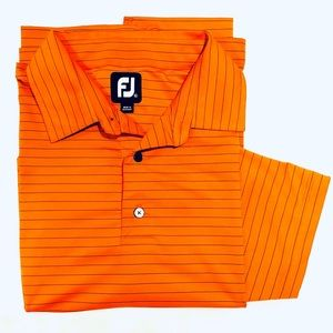 Men's FootJoy Orange Golf Shirt Sz XL